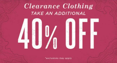 Additional 40% Off Clearance Clothing