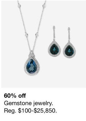 60% Off Gemstone Jewelry from macy's