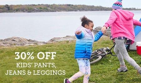 30% Off Kids' Pants, Jeans & Leggings from Eddie Bauer
