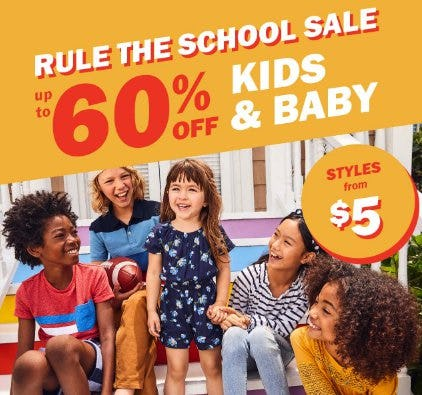 Up to 60% Off Kids & Baby from Old Navy