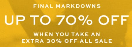 Up to 70% Off from Tory Burch