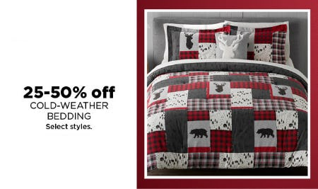25-50% Off Cold-Weather Bedding from Kohl's