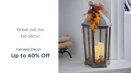Up to 40% Off Harvest Decor from Kirkland's