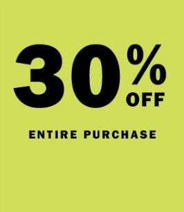 30% Off Entire Purchase from Old Navy