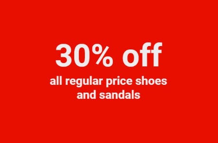 30% Off All Regular Price Shoes and Sandals from ALDO