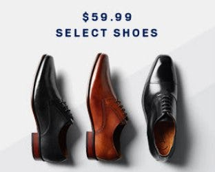 $59.99 Select Clearance Shoes from Men's Wearhouse
