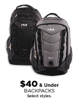 $40 & Under Backpacks