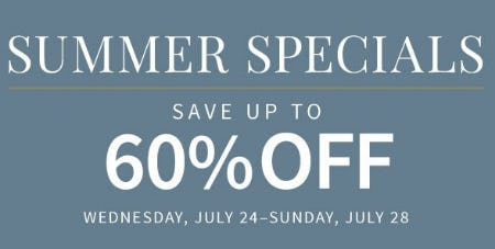 Summer Specials up to 60% Off from Jos. A. Bank