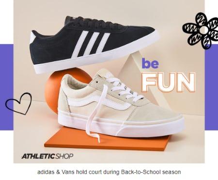 Shop adidas and Vans