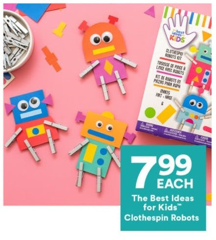 $7.99 Each The Best Ideas for Kids Clothespin Robots from Michaels