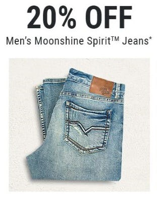 20% Off Men's Moonshine Spirit Jeans from Boot Barn Western And Work Wear