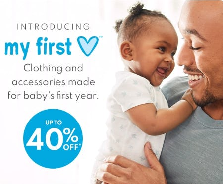 Up to 40% Off My First Love from Carter's