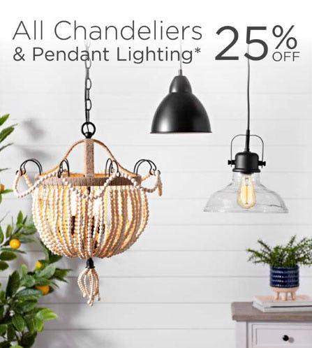 25% Off All Chandeliers & Pendant Lighting from Kirkland's