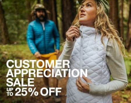 Customer Appreciation Sale 25% Off from The North Face