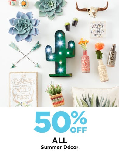 50% Off All Summer Decor from Michaels