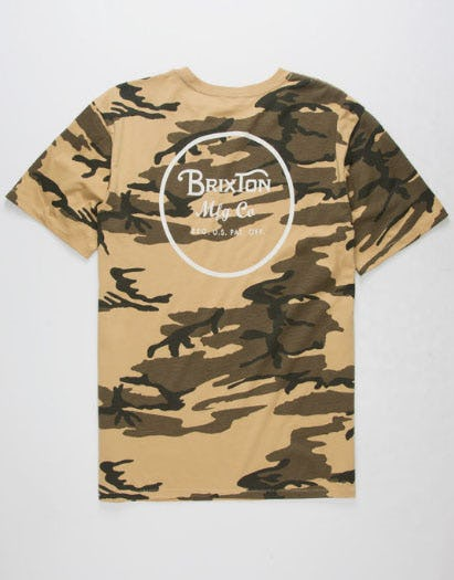 BRIXTON Wheeler II Camo Mens T-Shirt from Tilly's