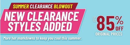Summer Clearance Event: Up to 85% Off Original Prices