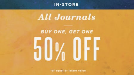 BOGO 50% Off All Journals from Earthbound Trading Company