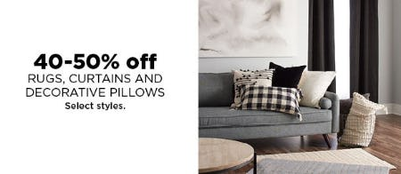 40-50% Off Rugs, Curtains & More