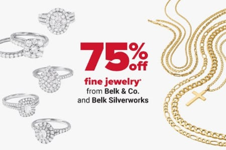 75% Off Fine Jewelry from Belk