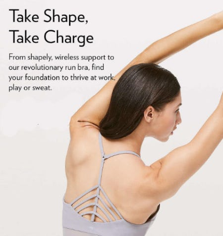 Take Shape, Take Charge from lululemon