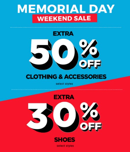 Extra 30-50% Off Memorial Day Clearance Sale from Tillys