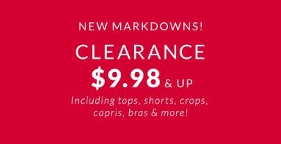 Clearance $9.98 & Up