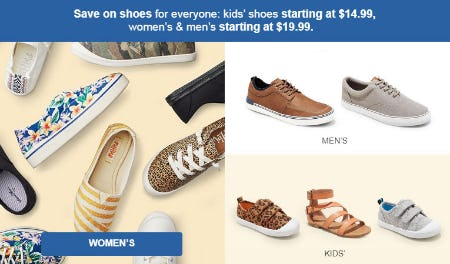 Save on Shoes for Everyone