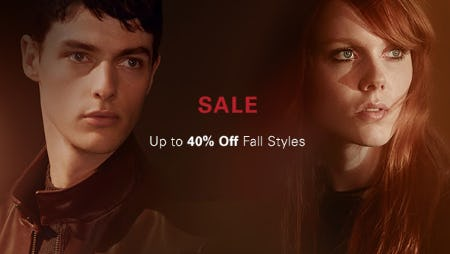 Up to 40% Off Fall Styles