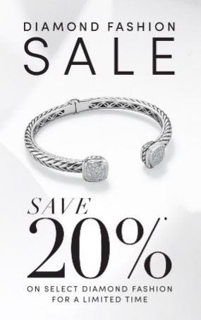 20% Off Diamond Fashion Sale from Jared Galleria Of Jewelry