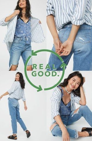 Just Dropped: Mom Jeans Made with Hemp from American Eagle Outfitters