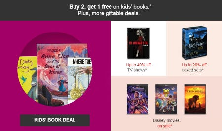 B2G1 Free Kids' Books from Target