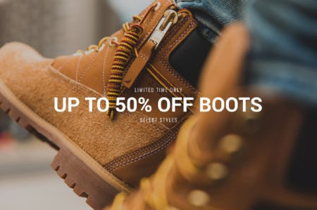 Up to 50% Off on Boots from DTLR