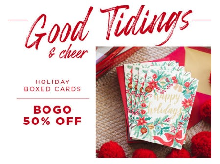 BOGO 50% Off Holiday Boxed Cards