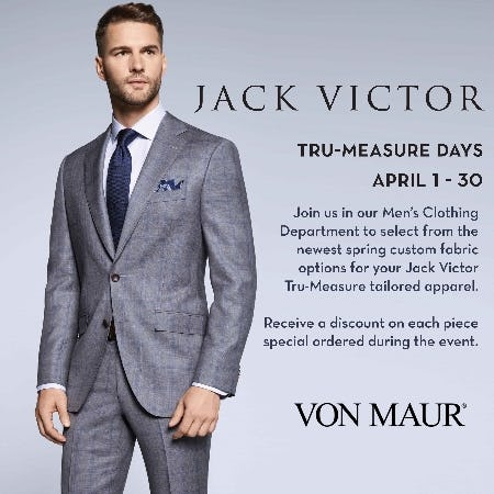 Jack Victor Tru-Measure Days from Von Maur
