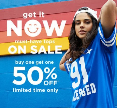 Must-Have Tops on Sale Buy One, Get One 50% Off from rue21