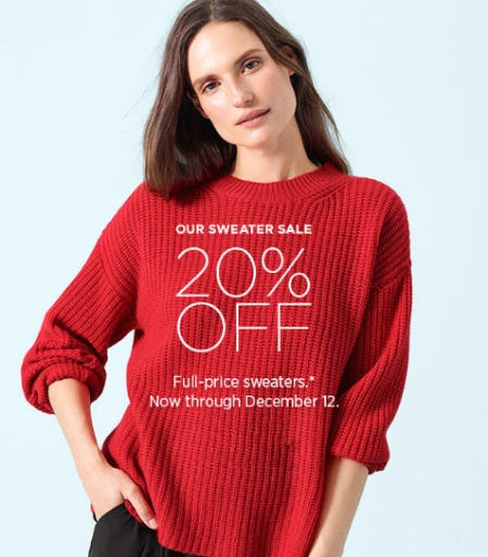 20% Off Sweater Sale from Eileen Fisher