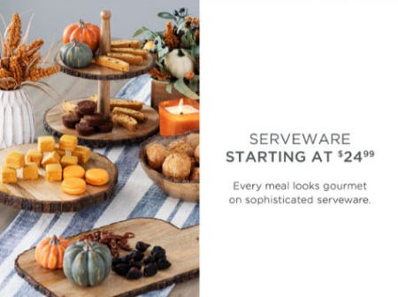 Serveware Starting at $24.99