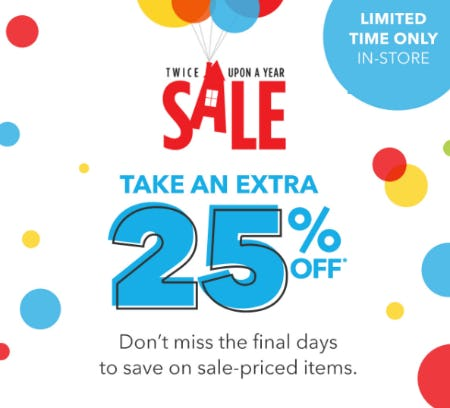 Twice Upon A Year Sale: Take an Extra 25% Off