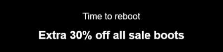 Extra 30% Off All Sale Boots