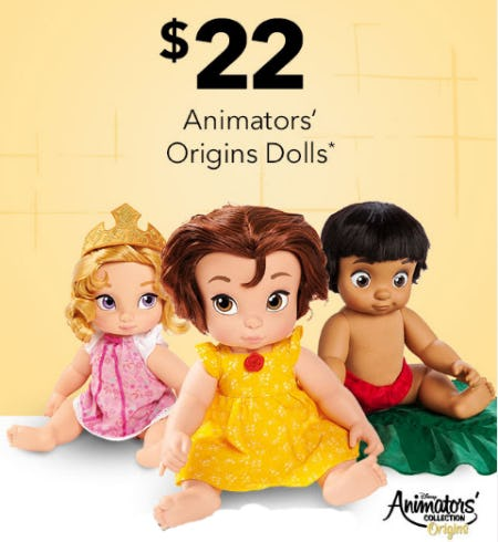 $22 Animators' Origins Dolls' from Disney Store