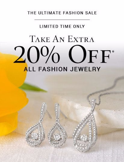 Take an Extra 20% Off All Fashion Jewelry