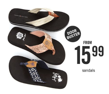 Sandals From $15.99