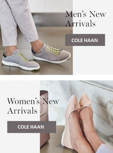 New & Noteworthy Arrivals from Cole Haan