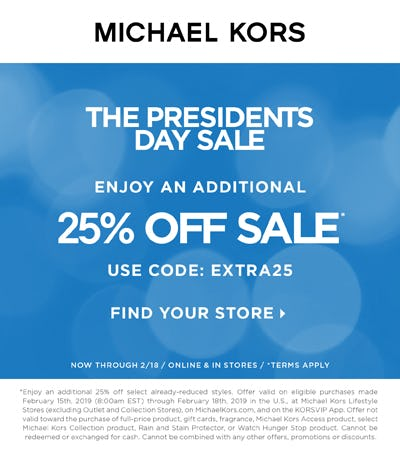 The Presidents Day Sale from MICHAEL KORS