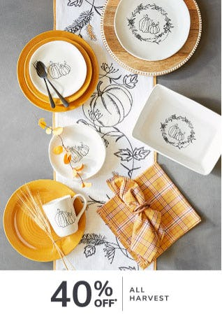 40% Off All Harvest from Pier 1 Imports