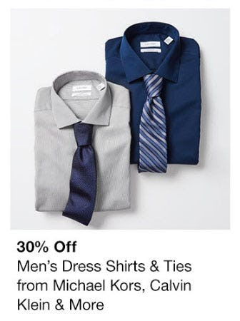 30% Off Men's Dress Shirts & Ties from macy's