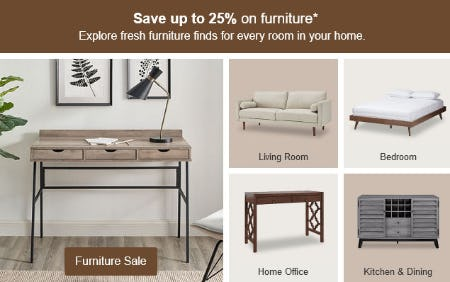 Save Up to 25% on Furniture