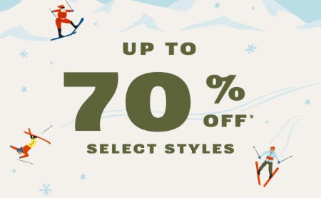 Up to 70% Off Select Styles from Fossil