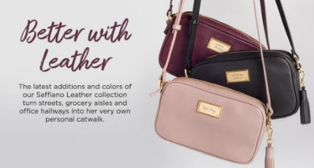Meet the Latest Additions and Colors of our Saffiano Leather Collection